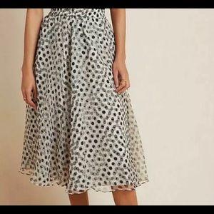 Anthro Dhruv Kapoor Polka Dot Skirt Sm